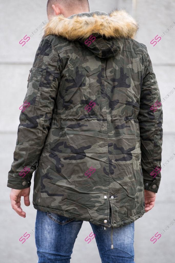Pánska zateplená zimná bunda s kožušinou  2bdec8c4635