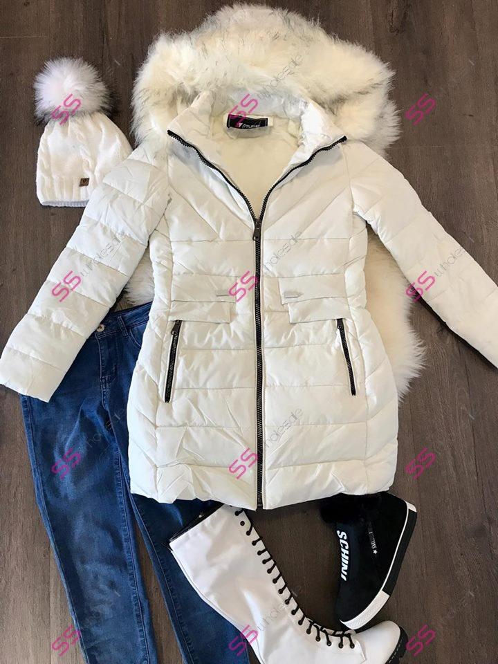 53dd13874 Prešívaná zimná bunda s kožušinou* | SS veľkoobchod obuvy a šiat