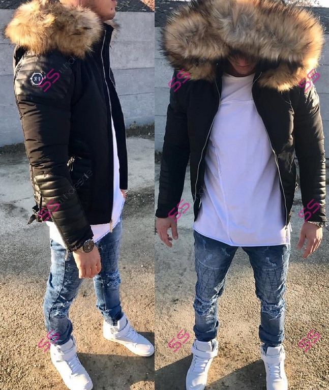 f0a27294d Pánska zimná bunda s kapucňou - | SS veľkoobchod obuvy a šiat