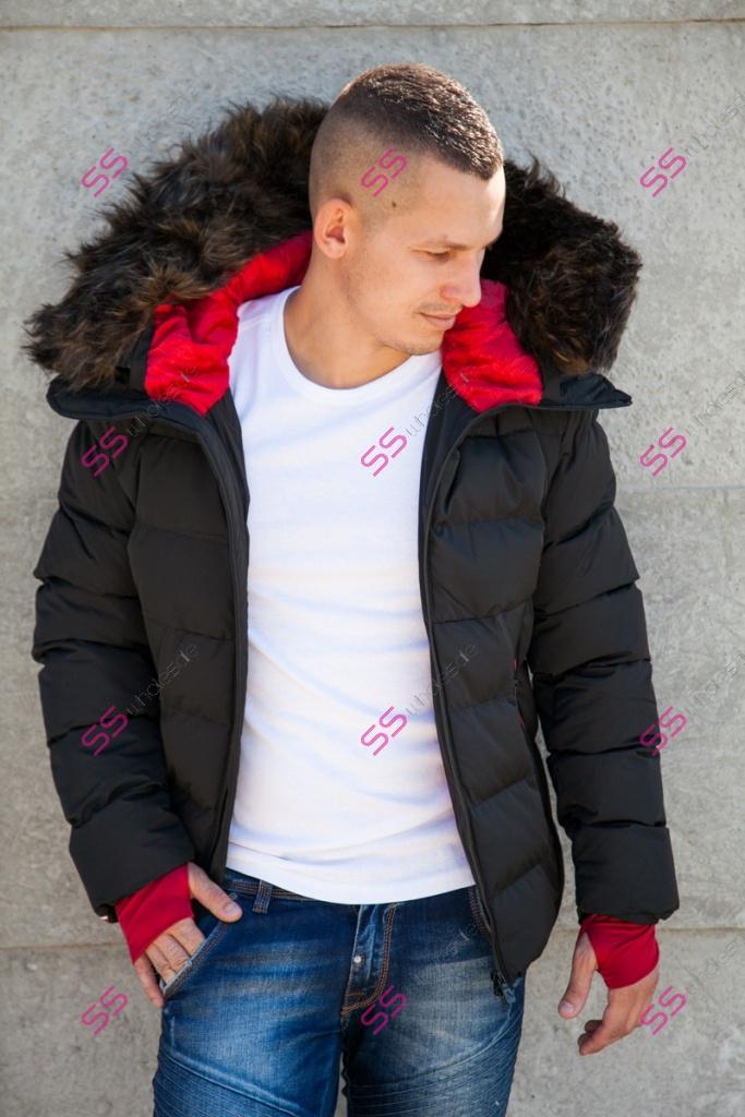 d0abb9c60 Pánska prešívaná zimná bunda s kožušinou* | SS veľkoobchod obuvy a šiat