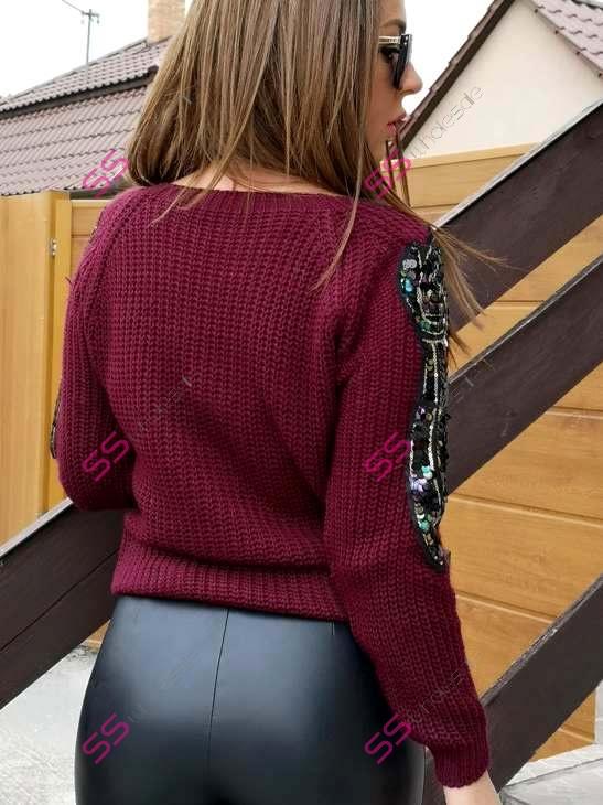 63788c408dca Pletený pulóver ALENA
