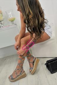 e9096bb3fa37 Platformové sandále s viazaním DEANNA