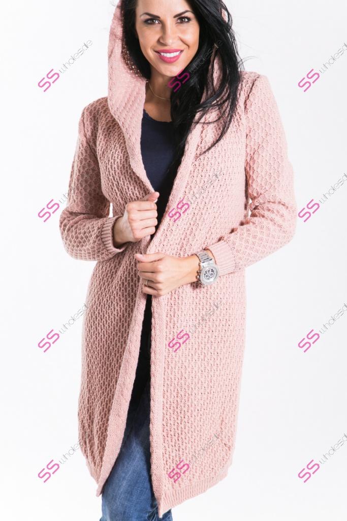 53803c1199caa Pletený sveter s kapucňou KATHLEEN   SS veľkoobchod obuvy a šiat